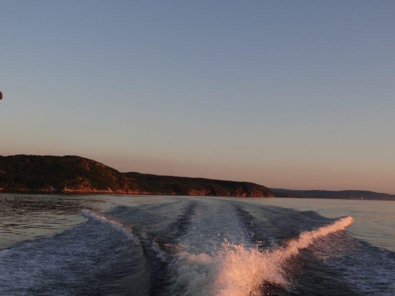 Волны природа вечер Кольский залив